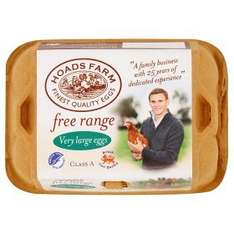 Hoads Farm Eggs Very Large Free Range (6 Pack) £1.09 @ Asda
