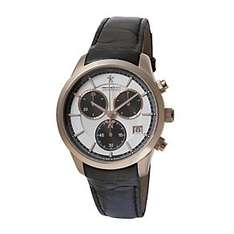 Dreyfuss & Co Rose Gold-plated & leather strap watch £245 @ Ernest jones