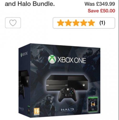 Xbox One Halo Bundle £299.99 Argos