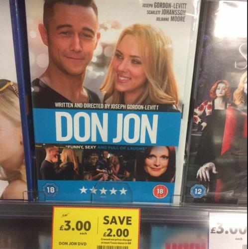 Don Jon (DVD) - £3 online and instore @ Tesco