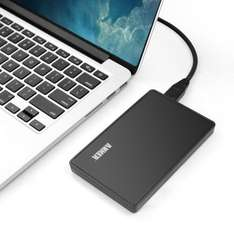"Anker® 2.5 Inch USB 3.0 Hard Drive Disk External Enclosure Case for 9.5mm & 7mm 2.5"" SATA HDD and SSD for £12.99 & FREE Delivery in the UK at Amazon"