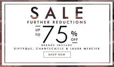 up to 75% off beauty products @ space nk