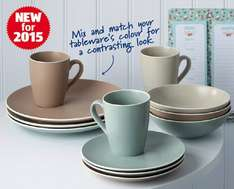 Aldi Tableware - Starting from £1.99 - Really pretty colours! From 11th Jan