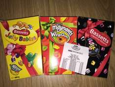 460g jelly babies, wine gums & liquorice all sorts 50p each at Asda INSTORE