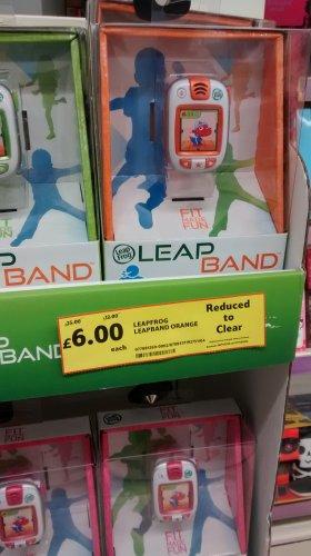 Leapband Orange watch £6.00 Tesco instore