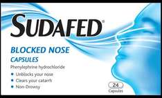 SUDAFED blocked nose 24 capsules £1.00 @ Poundworld