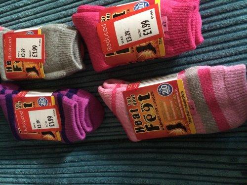 2 tog heat socks now 79p @ Aldi
