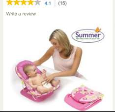 Summer infant deluxe baby bather - pink £5.09 @ Tesco