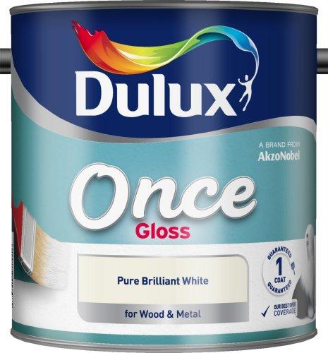 DULUX Once Brilliant white paint 2.5 Litre tin