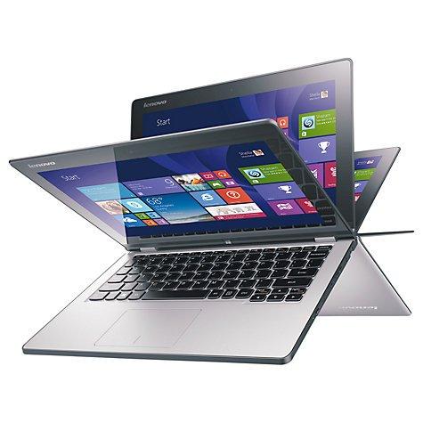 "Lenovo Yoga 2 11.6"" Convertible Laptop, Windows 8.1 64BIT, Quad-Core Intel Pentium, 4GB RAM, 500GB + 8GB SSHD, 11.6"" Touch Screen, Silver Grey - £349.99 @ Argos"