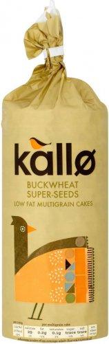 Kallo Buckwheat Super Seeds Low Fat Multigrain Cakes (GLUTEN FREE) (130g) was £1.25 now 75p @ Sainsbury's