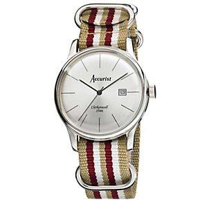 Accurist Men's Silver Dial Gold Tone Strap Watch half price £29.99@H.Samual