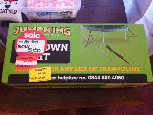 Jumpking trampoline tie down set £2 @ Asda instore