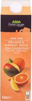 5 for £3 (was 4 for £3) or 69p each Asda 100% Pure Mango & Orange Juice and other flavours ()