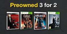 3 for 2 on preowned PS3, Xbox 360, Wii U, 3DS Games + NEW games, Movies, Accessories @ GAME online