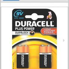 Duracell Plus 9v x 2 batteries 99p @ Screwfix