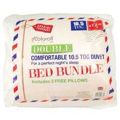 Double duvet and pillows £9.99 @ pound stretcher