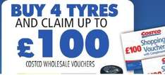 Costco Michellin Tyres deals back on Upto £100 free shopping vouchers