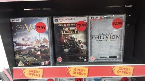 Fallout 3: GOTY Edition PC New £2.99 @ Sainsbury's