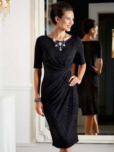 Sparkly Wrap Dress reduced from £39 to £10 at M & Co. FREE Delivery.
