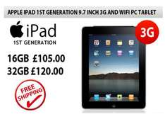 £105 Apple Ipad 1st Generation 9.7 Inch 16GB 3G And WiFi Tablet - Refurbished @ SVP.co.uk