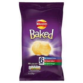 Walkers Baked Crisps 6 packs - 97p @ Asda