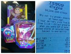 xeno £20,furby £15,cabbage patch doll £8.50 @ Tesco