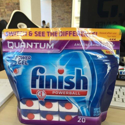 Finish Powerball QUANTUM 20 dishwasher tablets £4.31 @ Tesco