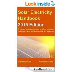 Amazon, e-reader book deal: 2015 Solar Electricity Handbook ..C.M.O.T. bargain price! (1 week only) Normally £10.96...NOW