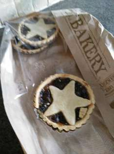 Large freshly baked Mince Pies 20p at Coop bakerys