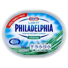 Philadelphia Light Family Pack 270g Sweet Chilli/Chives/Garlic & Herbs/Lactose free Now Half Price £1.20 @ tesco instore