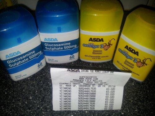Various vitamins  scanning at 2p @  Asda