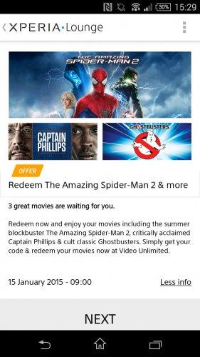 Free Movies @ Xperia Lounge!