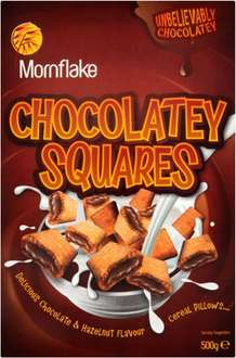 Mornflake Chocolatey Squares (500g) was £2.19 now £1.09 @ Tesco
