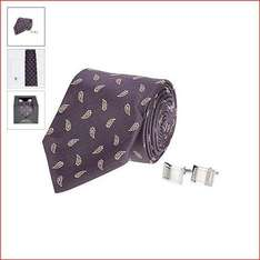 Tie and cufflink gift box reduced from £18.00 to £5.00 (free c&c)  at Debenhams