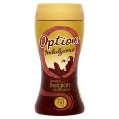 Options Indulgence Hot Chocolate drinks (224g) was £3.49 now £2.00 @ Tesco