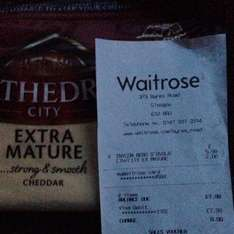 Cathedral 350g mature cheddar. £2 @ Waitrose