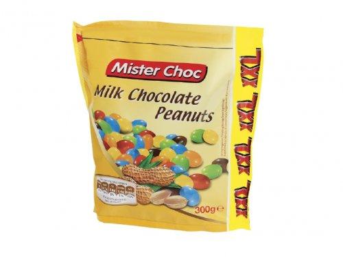Mister Choc Milk Chocolate Peanuts (250g = 50g Free) ONLY 99p @ Lidl