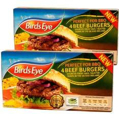 Birds Eye Beef Burgers (4) (227g) ONLY £1.00 each or 2 for £1.50 @ Heron Foods