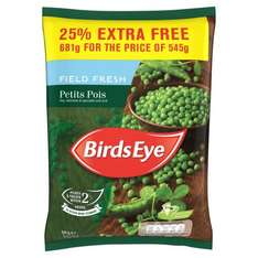 Birds Eye Petits Pois + 25% Extra Free (681g) ONLY £1.00 @ Heron Foods