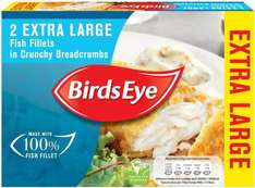 Birds Eye Simply Extra Large Breaded Fish Fillets (Alaska Pollock (Fish) (54%) (2 per pack - 320g) ONLY £1.00 @ Heron Foods