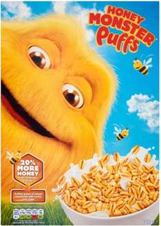Honey Monster Puffs (625g) was £3.25 now £1.62 @ Morrisons