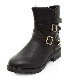 new look biker boots £7 reduced from £30 all sizes