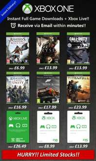 Xbox one digital Download games from £6.99 @ simply games