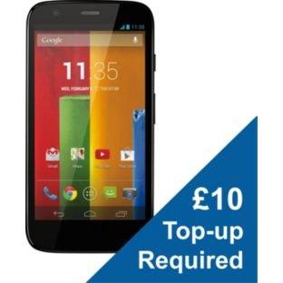 Vodafone Motorola Moto G 8GB Mobile Phone - Black Now £92.99 + £10 Top Up @ Argos