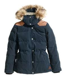 Ladies Down jacket/ coat, dark blue, £20 delivered from £59.99, all sizes from 8 to 20 @ H&M