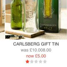 Carlsberg set from £10.008 to £5 @ BHS