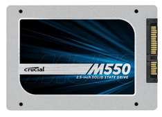 Crucial 256GB M550 SATA 2.5 Inch SSD hard drive delivered by Amazon France for £76