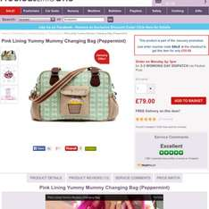 Pink lining yummy mummy changing bag £55 with code @ precious little one