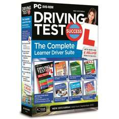 Driving Test Success Complete Learner Driver Suite 2013 - £1.00 @ Halfords.com (Click and Collect only)